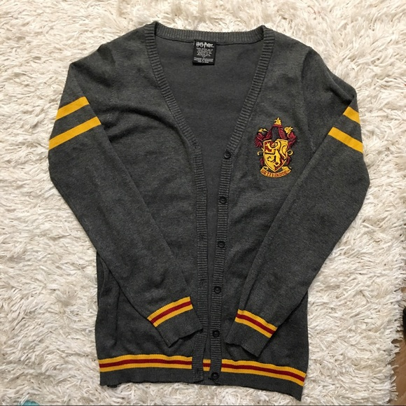 Hot Topic Sweaters Harry Potter Gryffindor House Cardigan Poshmark